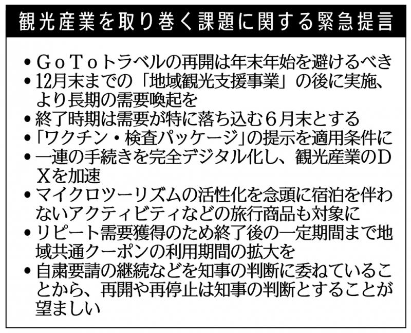 同友会、GoTo再開「年明け」 観光産業で提言