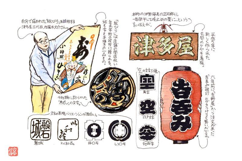 有吉玉青が巡る伝承工芸(34)江戸文字に粋な遊び心