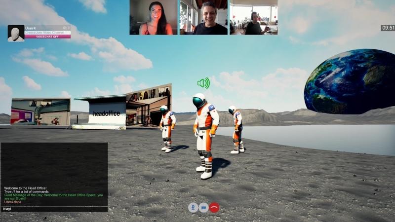 ヘッドオフィス・スペース、月面舞台に仮想空間 アバターで仕事