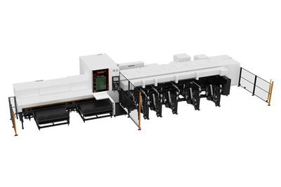 ヤマザキマザック、新型レーザー加工機 小径パイプ生産を省力化