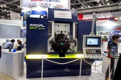 MF-TOKYO2019/ニッセー、イタリア製3ダイス転造盤を初展示