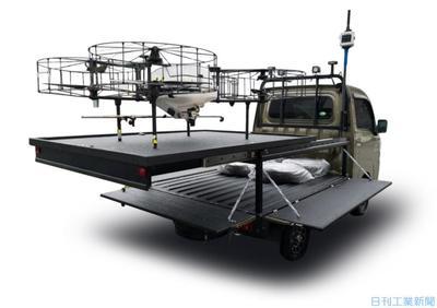 ドローン発着台搭載の軽トラ、ダイハツが開発
