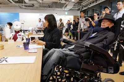 れいわ新選組の舩後参院議員、分身ロボットカフェ視察 難病患者らが遠隔操作