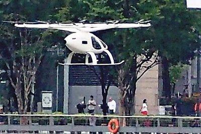 独ボロコプター、「空飛ぶタクシー」の実寸大離着陸場を試作 シンガポールで実用化