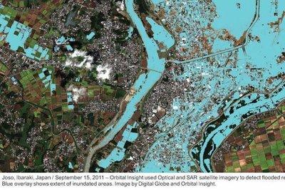 水害の衛星画像、AI解析 東京海上日動が米ベンチャーと連携
