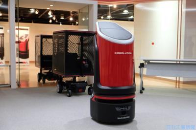 ロボリューション、自動運搬システム提案 自律誘導ロボに追従
