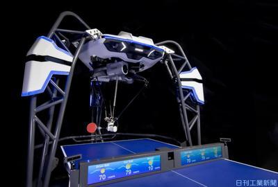 人のモチベーション向上へ オムロンとスクエニがAI搭載卓球ロボを研究