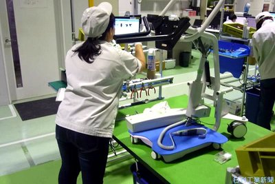 アドテック富士/本社工場 介護用移乗支援ロボ組み立て 作業手順、情報端末に表示