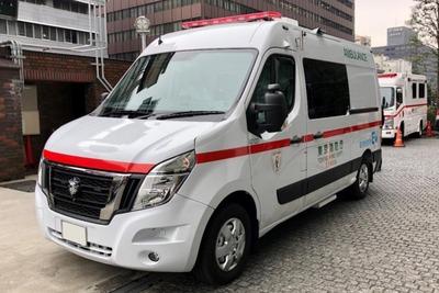 初のEV救急車始動 静か・低振動、日産が納入