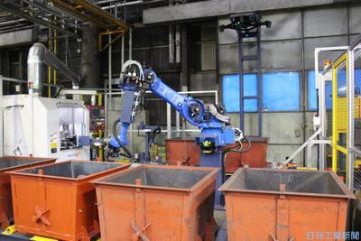 津田駒、鋳物バリ取り自動化 石川・松任工場、公開も視野に