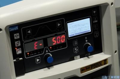 液晶表示で直感操作 ダイヘン、溶接機新シリーズ
