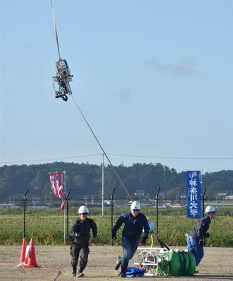 福島・南相馬で「宇宙エレベーター」実証 国内外12チーム参加
