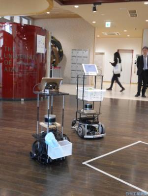 TISと会津大、搬送自動化実証 自律移動ロボを複数連携