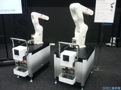デンソー、ロボ搭載に汎用架台 導入作業を簡略化