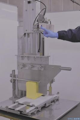 山科精器、冷凍バター切断を機械化