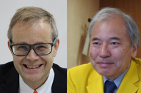 ファナック会長兼CEO・稲葉善治氏、独クカのステファン・ランパ氏